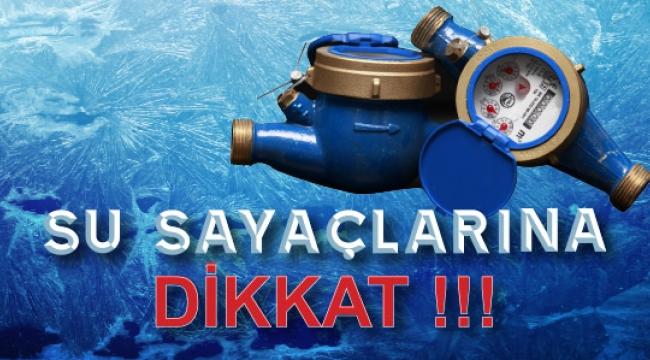 ASKİ UYARDI: ''Su Sayaçlarınızı Soğuklara Karşı Koruyun''
