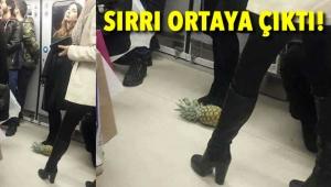 Ankara Metrosu'nda Ananas Gezdiren Kadın Sosyal Medyada Olay Yarattı