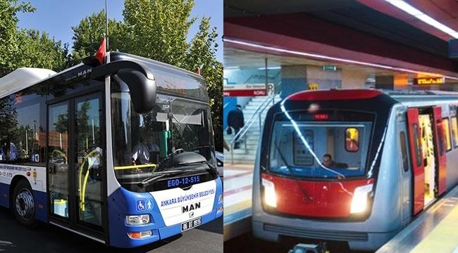 DİKKAT! Ankara'da Bugün Belirli Saatlerde EGO Otobüsü ve Metrolar Ücretsiz