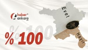 YÜZDE 100'Ü SAYILDI! Ankara'nın Elmadağ İlçesi Referandum Sonuçları