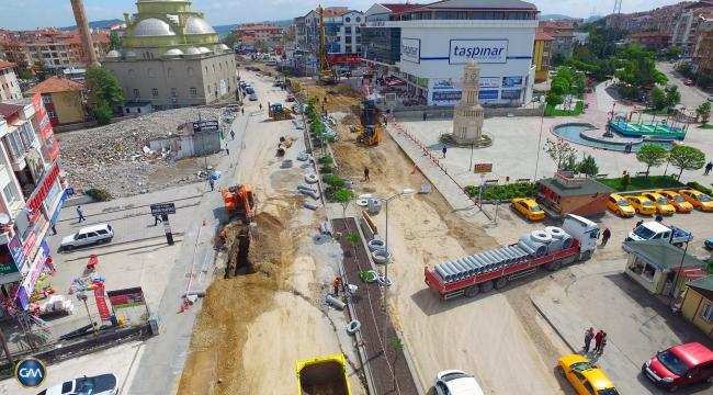 Büyükşehir'den ''Battı-Çıktı'' Yöntemi İle Yeni Köprülü Kavşak