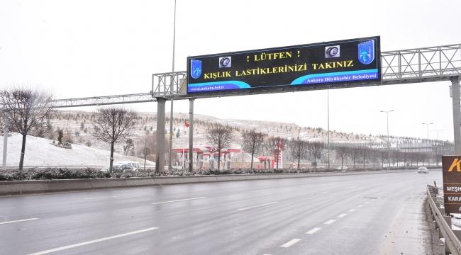 Başkentteki LED'li Trafik Bilgi Ekranlarının Sayısı Arttı