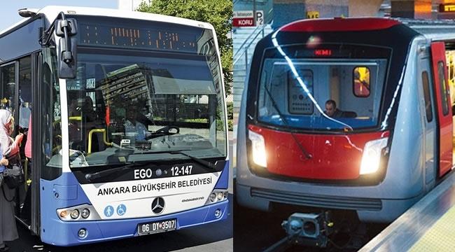 Ankara'da Otobüs ve Metrolar Kaç Gün Ücretsiz Olacak?