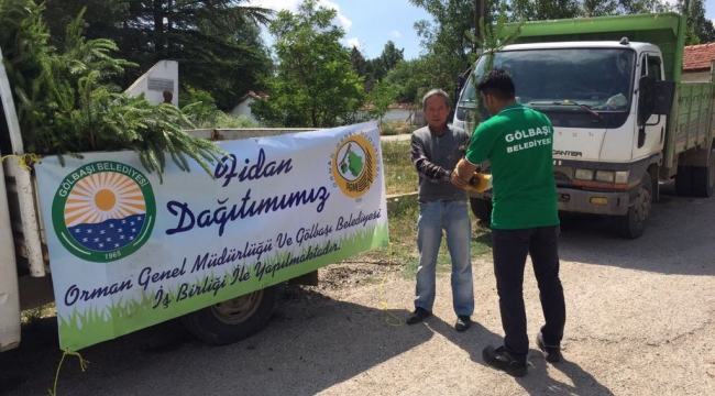 Gölbaşı Belediyesi'nden Evi Yanan Aileye Yardım Eli