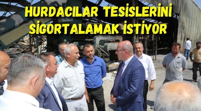 ATO Başkanı Yanan Hurdacılar Sitesini Gezdi