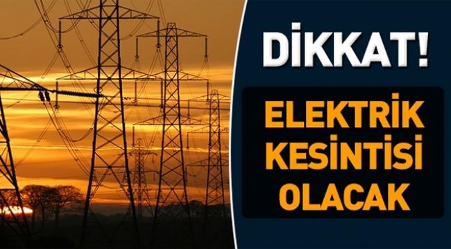 OKUMADAN GEÇMEYİN! Ankara'da Salı Günü 14 İlçede Elektrik Yok