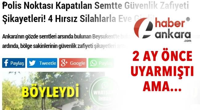Ankara'nın Butik Semtinde Bir Gecede 5 Hırsızlık Vakası!