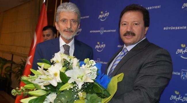 Mehmet Yiğiner'den Mustafa Tuna'yaHayırlı OlsunZiyareti