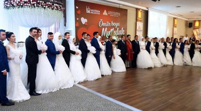 14 Şubat'ta Keçiören'de 14 Çiftle Toplu Nikah
