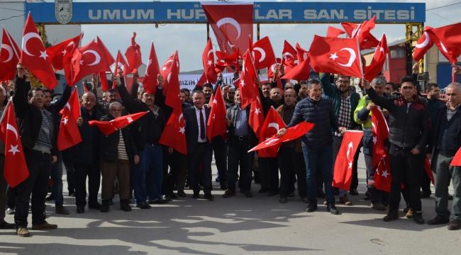 Ankaralı Hurdacı Esnafı'ndan Mehmetçiğe Destek Yürüyüşü