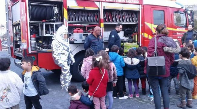 Başkentli Minik Öğrencilere Yangın Eğitimi