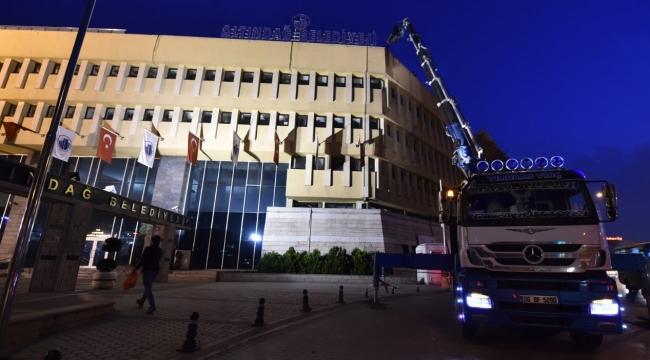 Altındağ Belediye Binasının İkinci Bloğu da Yıkılıyor