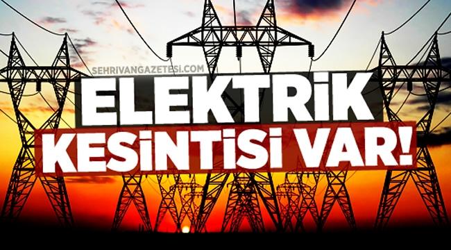 DİKKAT! Ankara'da 10 İlçede Elektrik Kesintisi. İşte Detaylar...