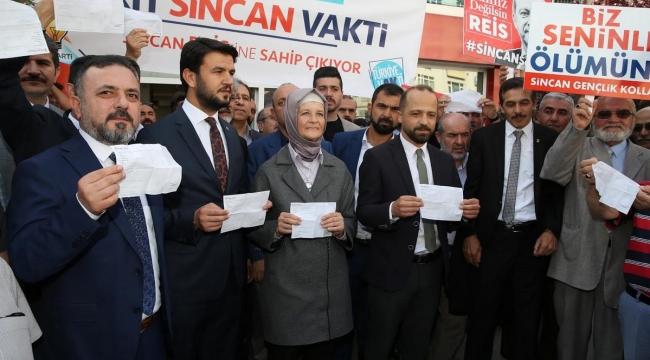 Erdoğan'ın Seçim Kampanyasına Sincan'dan Destek