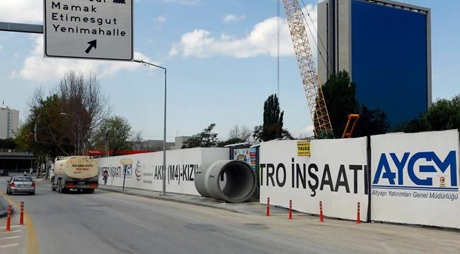 FLAŞ! Ankara'da Metro İnşaatı Nedeniyle 20 Gün Boyunca Bazı Yollar Trafiğe Kapanacak