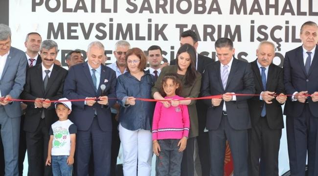 Sarıoba Mevsimlik Tarım İşçileri (METİP) Yerleşkesi Açıldı
