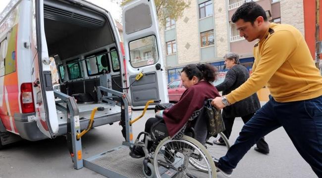 Yenimahalle'de Yaşlı, Hasta ve Engelli Seçmene Ulaşım Desteği