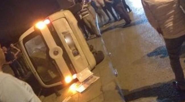 Ankara'da Korkutan Kaza! Otomobil Devrildi: 1 Yaralı