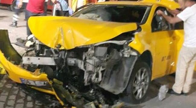 Başkent'te Taksi Köprüden Uçtu: 2 Yaralı