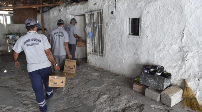 Büyükşehir'den Mülteci Ailelere Gıda ve Temizlik Yardım