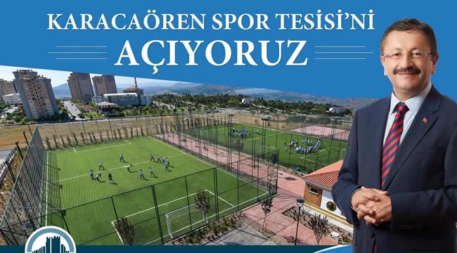 Altındağ  Karacaören Mahallesi Spor Tesisine Kavuşuyor