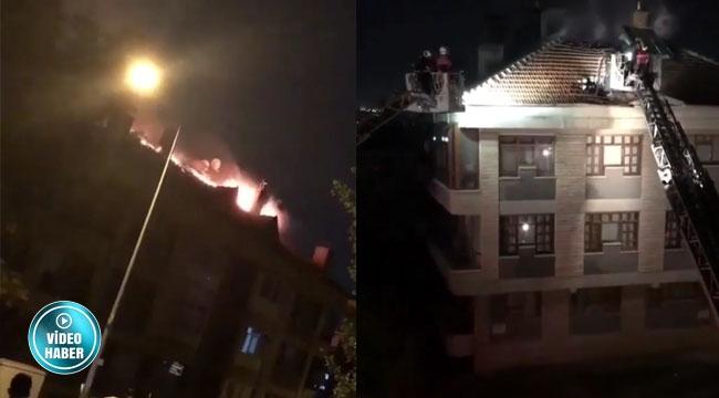 Keçiören'de Korkutan Yangın