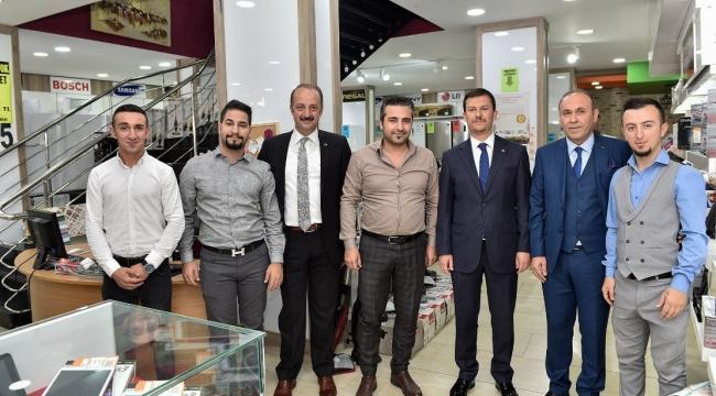 Fatih Şahin ve Mesut Akgül'den Esnaf Ziyareti