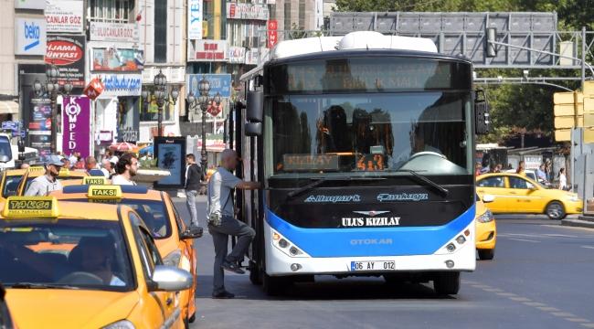 Ankara'da halk otobüsü şoförü toplu ulaşımdan men edildi