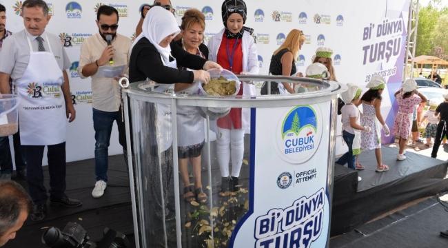 Guinness'e Aday Turşu Çubuk'tan! Dünya'nın En Büyük Turşusu Ankara'da Kuruldu