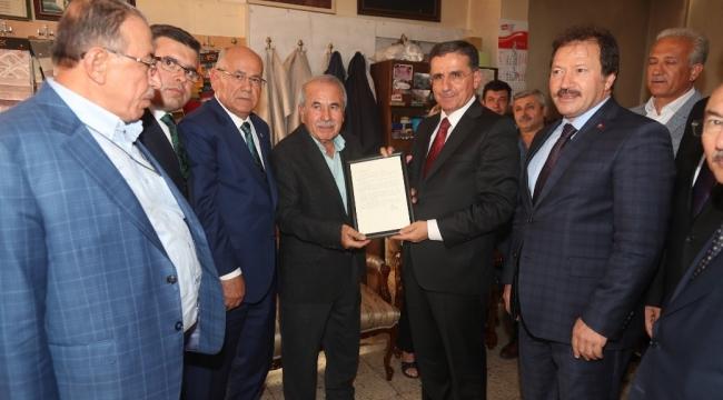 Yılın Ahisi Muzaffer Balcı'ya İşyerinde Ziyaret