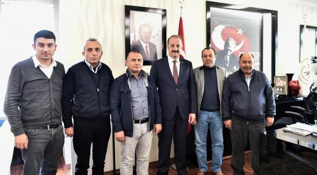 Taksici Esnafından Mesut Akgül'e Ziyaret
