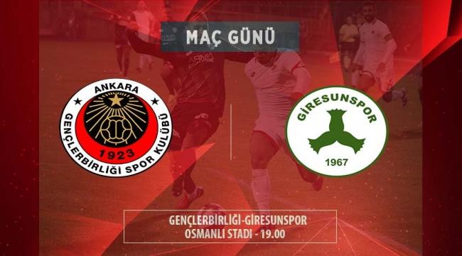 Lider Gençlerbirliği Giresunspor Maçına Hazır!