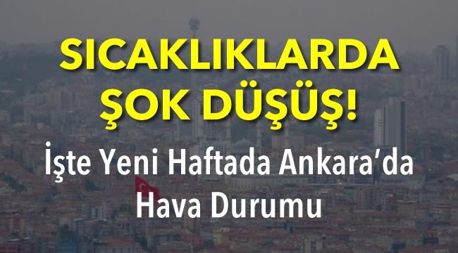 SICAKLIKLARDA ŞOK DÜŞÜŞ! İşte Yeni Haftada Ankara'da Hava Durumu...