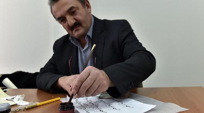 Türk El Sanatları Mamak'ta Yaşatılıyor! Kamış Kalem ve Mürekkeple Yükselen Sanat...
