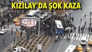 Kızılay'da Şok Kaza! EGO Otobüsü Yayalara Çarptı: Yaralılar Var