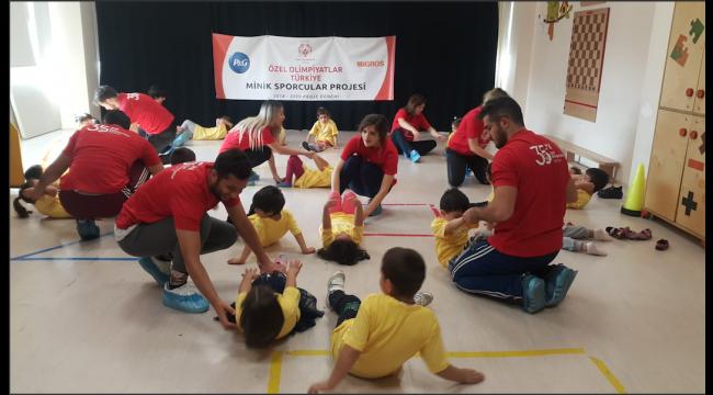 """3 Yıldır Özel Çocukların Gelişimini Destekleyen """"Minik Sporcular"""" Projesi Ankara'da..."""