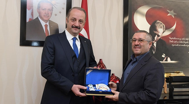 Türk Kızılay'ı Mamak Şube Başkanı'ndan Mesut Akgül'e Ziyaret