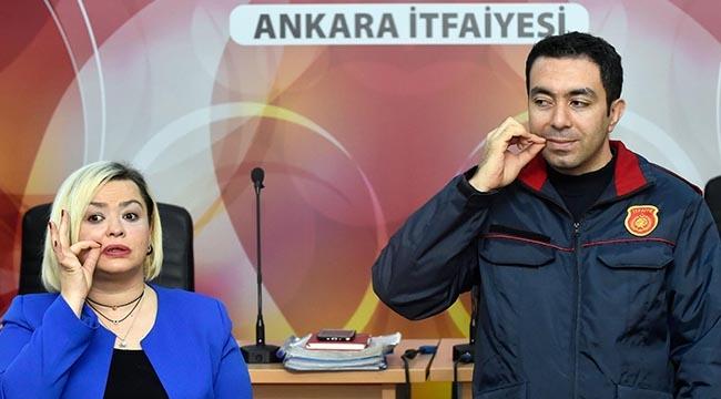 Ankara İtfaiyesi İşaret Dili Öğreniyor