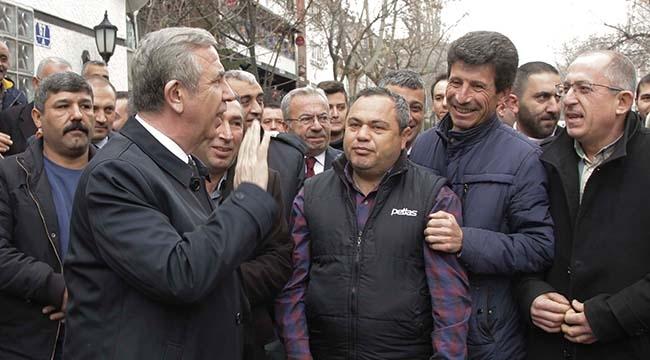 Mansur Yavaş Taksicileri Ziyaret Etti:
