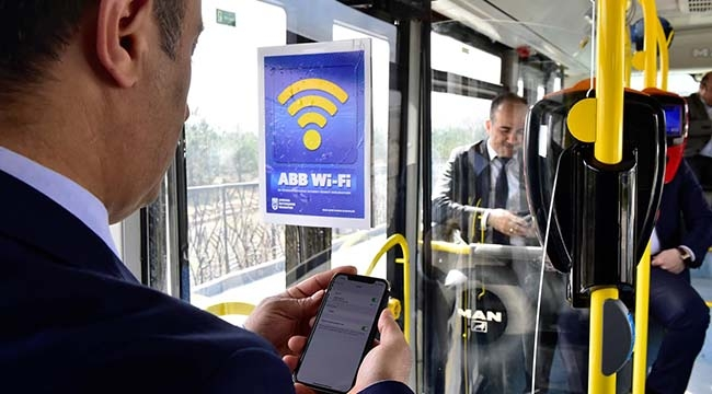 """Ankara'da Otobüslerde """"Ücretsiz İnternet"""" Dönemi Başlıyor"""