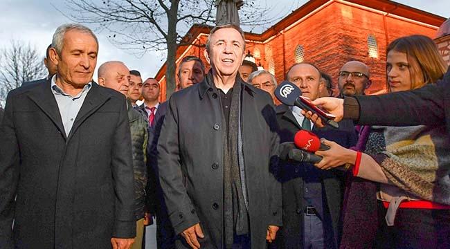 Mansur Yavaş Mazbatasını Bugün Alıyor! Sabah Namazını Hacı Bayram-ı Veli Camii'nde Kıldı