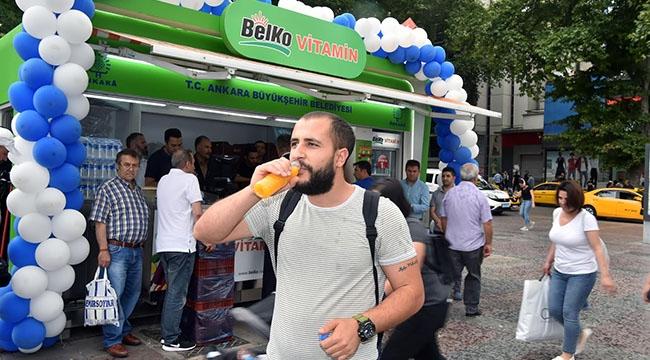 BELKO Vitamin Büfeleri Yeniden Ankara Sokaklarında