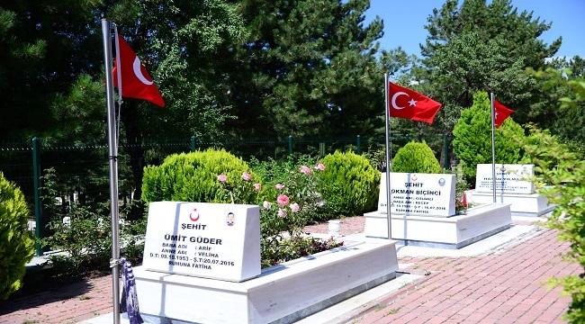 Kahramankazan'da Şehit Mezarları Çiçeklerle Donatıldı