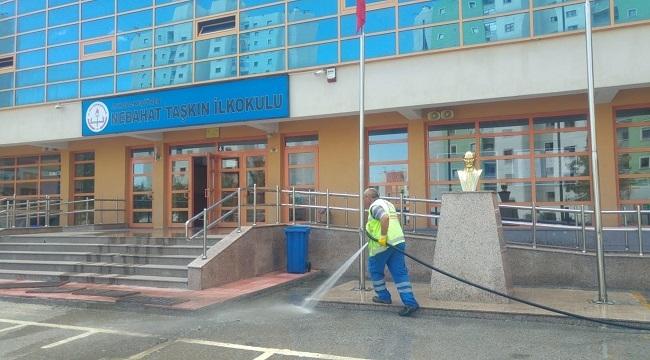 Keçiören'de Tüm Okullar Yıkanıp Temizlendi
