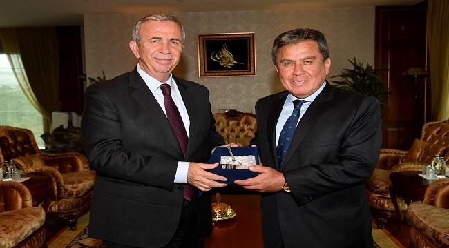Mansur Yavaş'a Büyükelçiler'den Ziyaret