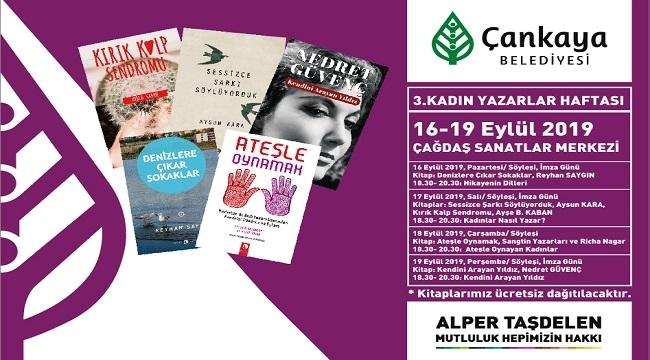 Çankaya'da Kadın Yazarlar 3. Kez Bir Arada