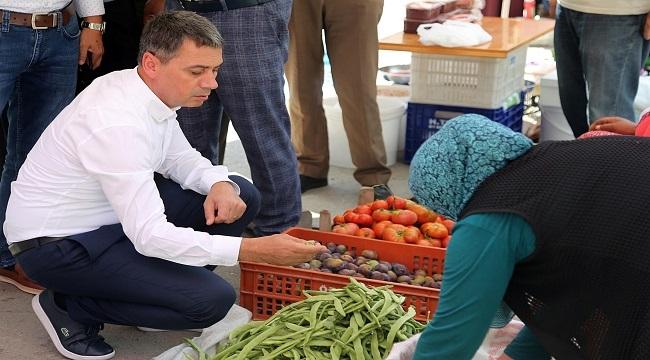 Ramazan Şimşek'den Semt Pazarına Ziyaret