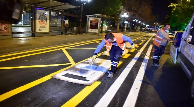 Başkent'in Yolları Çizgilerle Daha Güvenli