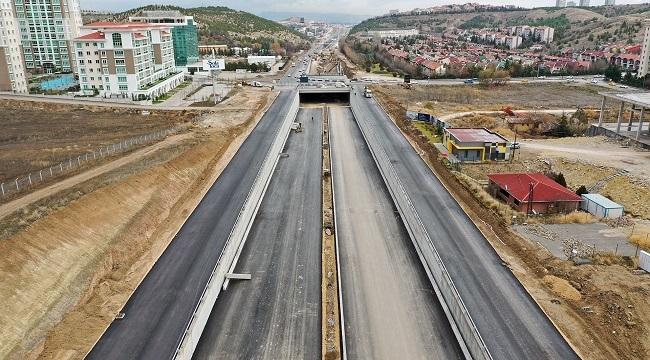 Eskişehir Yolu'ndaki Çalışmalara Sona Yaklaşıldı