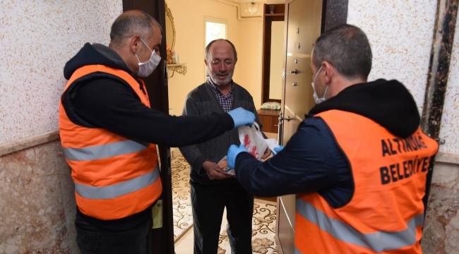 Altındağ'da 60 yaş üstü vatandaşlara alışveriş desteği